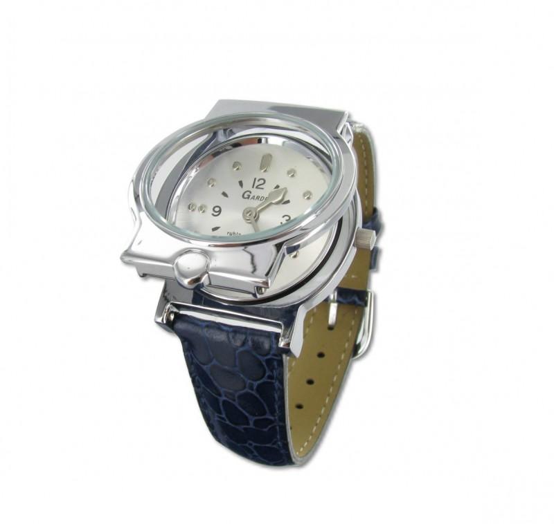 Náramkové hodinky s hmatovými znaky a koženým modrým páskem - Tercio.cz 868b67ae79